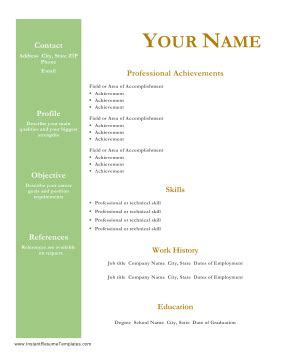 Career objective for technical resume